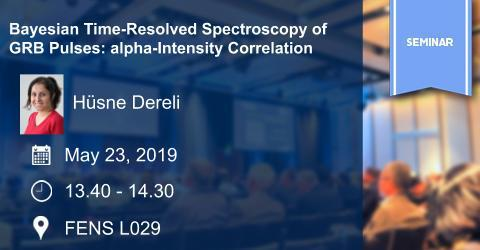 PHY Seminar: Bayesian Time-Resolved Spectroscopy of GRB Pulses: alpha...