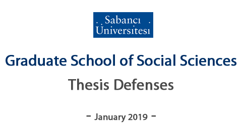 GSS - January 2019 Thesis / Dissertation Defenses