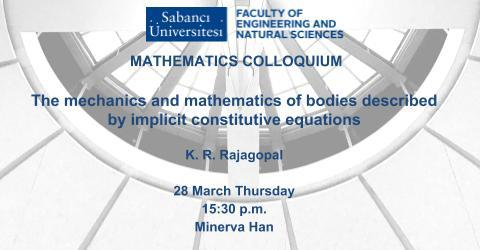 Mathematics Colloquium: The mechanics and mathematics of bodies describe