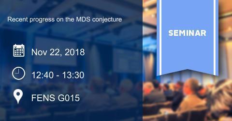 ALGEBRA SEMINAR: Recent progress on the MDS conjecture