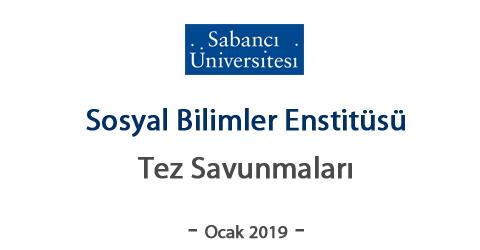 SBE - Ocak 2019 Yüksek Lisans ve Doktora Savunmaları