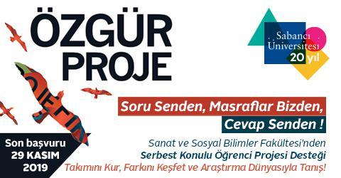 ÖZGÜR PROJE - Application Deadline: November 29, 2019