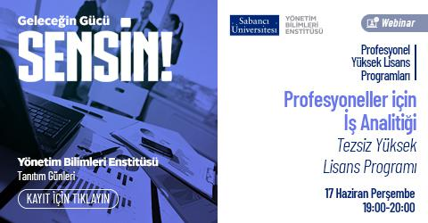 Profesyoneller için İş Analitiği Programı Tanıtım Toplantısı