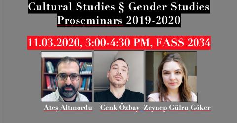 Cultural Studies & Gender Studies Proseminars 2019-2020