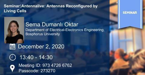 SEMINAR: Antennalive: Antennas Reconfigured by Living Cells