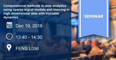 SEMINAR: Computational methods in data analytics.....