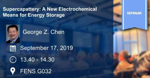 Seminar: Supercapattery: A New Electrochemical Means for Energy Storage