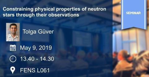 MAT Seminar: Constraining physical properties of neutron