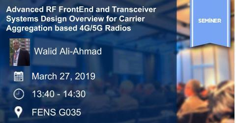 EE Seminar: Advanced RF FrontEnd and Transceiver Systems Design...