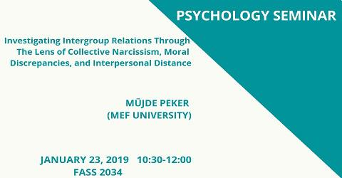 Psychology Seminar: Müjde Peker